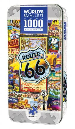 Route 66 (World's Smallest Tin) Geography Miniature Puzzle