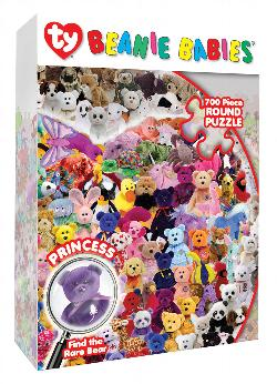Find the Princess Beanie Baby Animals Shaped Puzzle