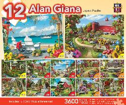 Giana Bundle (12-Packs 3600 Pieces) Seascape / Coastal Living Multi-Pack
