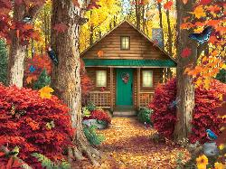 Hidden Retreat (Memory Lane) Cottage/Cabin Large Piece