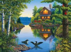 Tucked Away (The Great Outdoors) Cottage/Cabin Jigsaw Puzzle