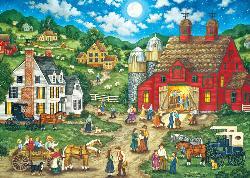 Friday Night Hoe Down (Heartland) Americana & Folk Art Jigsaw Puzzle