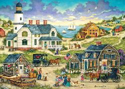 Heartland - As the Sun Sets Folk Art Jigsaw Puzzle