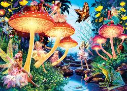 Toadstool Brook Fairies Jigsaw Puzzle