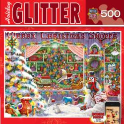 Christmas Shop (Holiday Glitter) Snow Jigsaw Puzzle