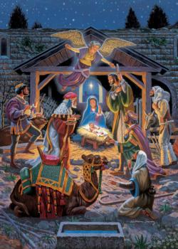 Holy Night (Holiday Glitter) Snow Jigsaw Puzzle