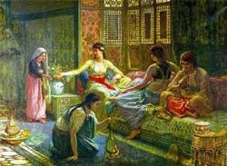 Interior of a Harem People Jigsaw Puzzle