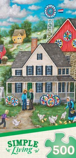 Johnny Ott's Hex Signs Americana & Folk Art Jigsaw Puzzle