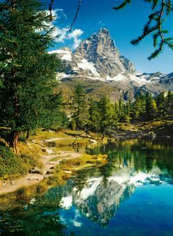 Matterhorn in the Mirror - Scratch and Dent Landscape Jigsaw Puzzle