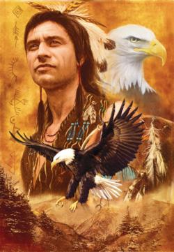 Eagle Montage Native American Jigsaw Puzzle