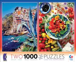 2 in 1  Positano & Tomato Dish (Photography) Italy Jigsaw Puzzle