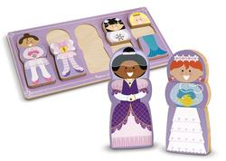 Mix-Match-Stack Chunky Puzzles - Dress-Up Pretend Play Chunky Puzzle