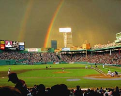 Rainbows Over Fenway Park Baseball Jigsaw Puzzle