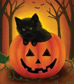 Halloween Kitten Halloween Large Piece