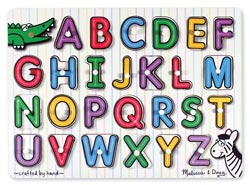 Peg Puzzle - See-Inside Alphabet Language Arts Children's Puzzles