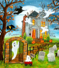 Haunted Haven Halloween Large Piece