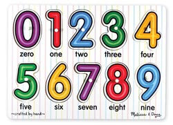 Peg Puzzle - See-Inside Numbers Math Children's Puzzles