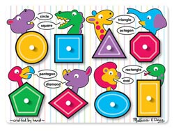 Shapes Educational Jumbo / Chunky / Peg Puzzle