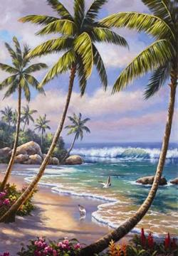 Private Island Treasure Seascape / Coastal Living Jigsaw Puzzle