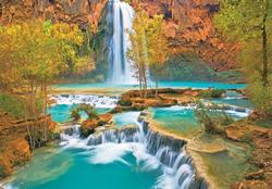 Canyon Oasis Waterfalls Jigsaw Puzzle