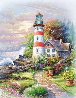 Signal Point Seascape / Coastal Living Jigsaw Puzzle