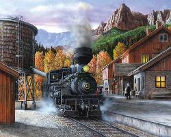 Mountain Express Trains Jigsaw Puzzle