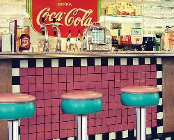 Soda Shop (Coca-Cola) Nostalgic / Retro Jigsaw Puzzle