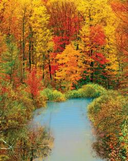 Autumn Reflection Nature Jigsaw Puzzle