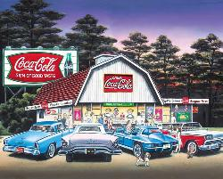 Night on the Town (Coca-Cola) Coca Cola Jigsaw Puzzle