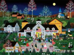 Swing Your Partner Americana & Folk Art Jigsaw Puzzle