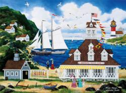 Ships Ahoy (Jane Wooster Scott) Seascape / Coastal Living Jigsaw Puzzle