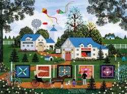 Patchwork Sampler (Jane Wooster Scott) Folk Art Jigsaw Puzzle