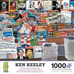 20-21st Century Newsstand Magazines and Newspapers Jigsaw Puzzle
