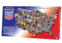 Road Trip America United States Shaped