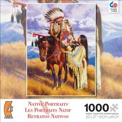 The Farewell (Native Portraits) - Scratch and Dent Native American Jigsaw Puzzle