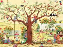 Growing Together (Ellen Stouffer) Folk Art Jigsaw Puzzle