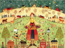 Feast (Ellen Stouffer) Folk Art Jigsaw Puzzle