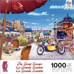 The Newspaper Stand in Paris (The Great Escape) Cities Jigsaw Puzzle