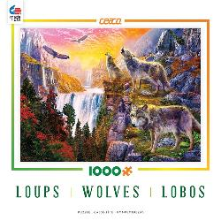 Wolves in the Sun (Wolves) Wolves Jigsaw Puzzle