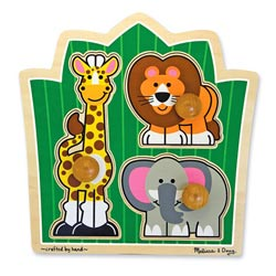 Jungle Friends Jumbo Knob Puzzle Lions Peg Puzzle