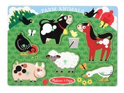 Peg Puzzle - Farm Farm Animals Kids Puzzle