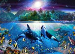 Harmonious Orcas 2 Under The Sea Jigsaw Puzzle