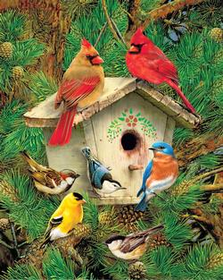 Feathered Retreat Birds Jigsaw Puzzle