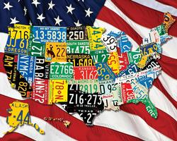 State Plates Maps Jigsaw Puzzle