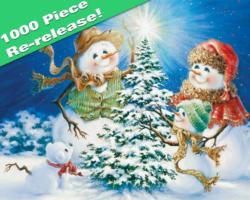 Frosty Family Snow Jigsaw Puzzle