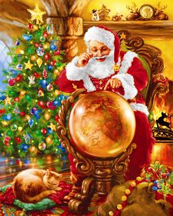 Joy Around the World Santa Jigsaw Puzzle