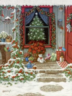 Christmas Doorway Snow