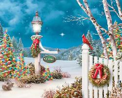 Holiday Welcome Christmas Jigsaw Puzzle