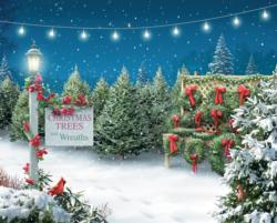 Christmas Tree Lane Snow Jigsaw Puzzle