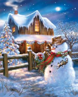 A Country Christmas Snow Jigsaw Puzzle
